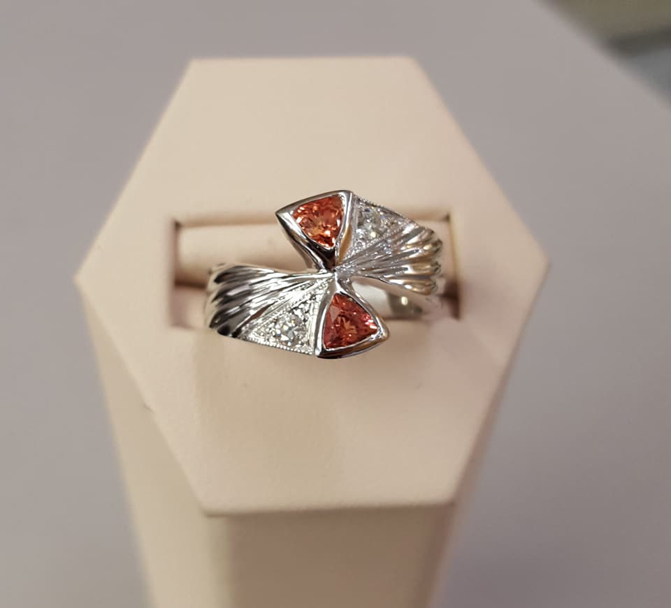 .65ctw Sapphires .15ctw Diamonds