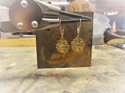 Gold Floral Filigree Earrings