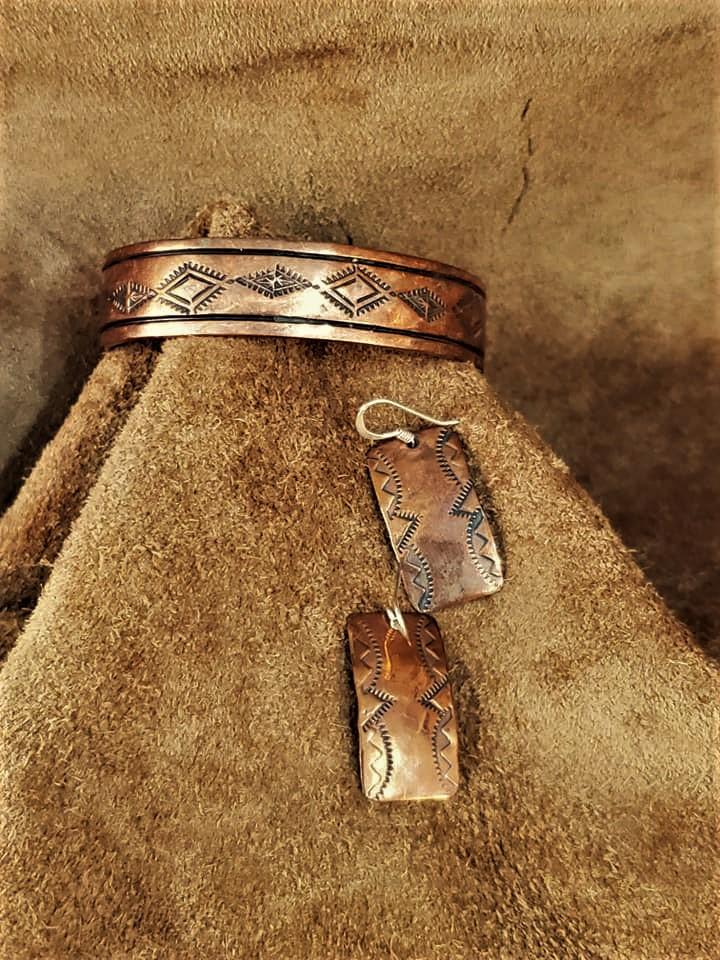 Navajo Sheila Vandever Copper Set