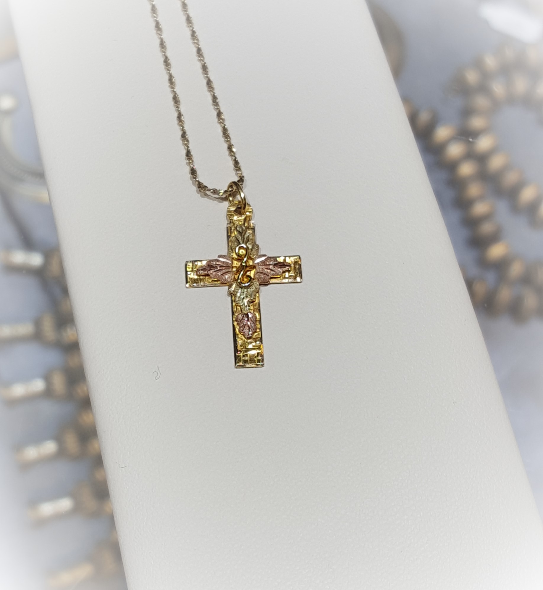 Tri-Color Cross Pendant
