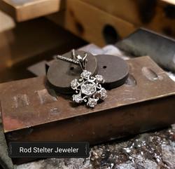 .50ctw Diamond Snowflake Pendant