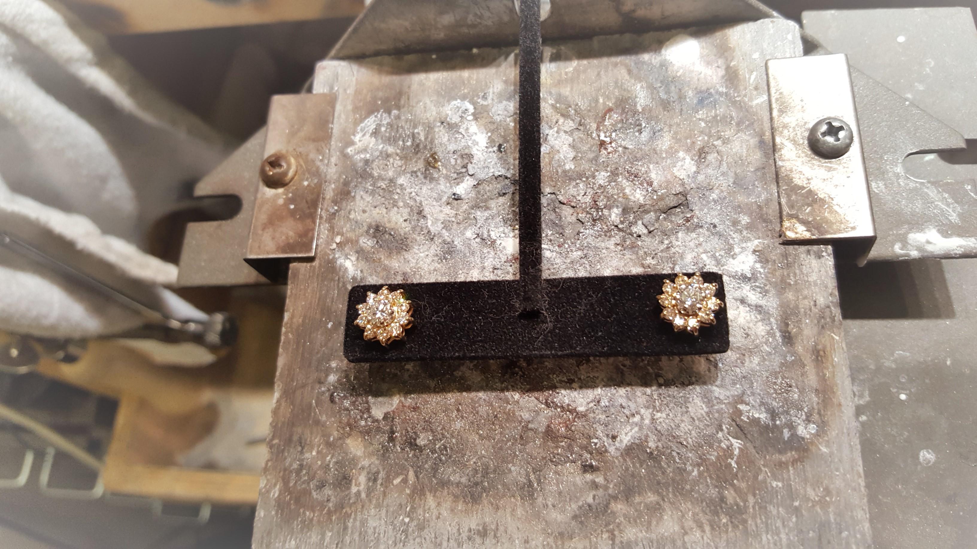 Diamond Studs with Diamond Jackets