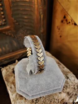 Ladies 14kt Gold Heart Link Bracelet