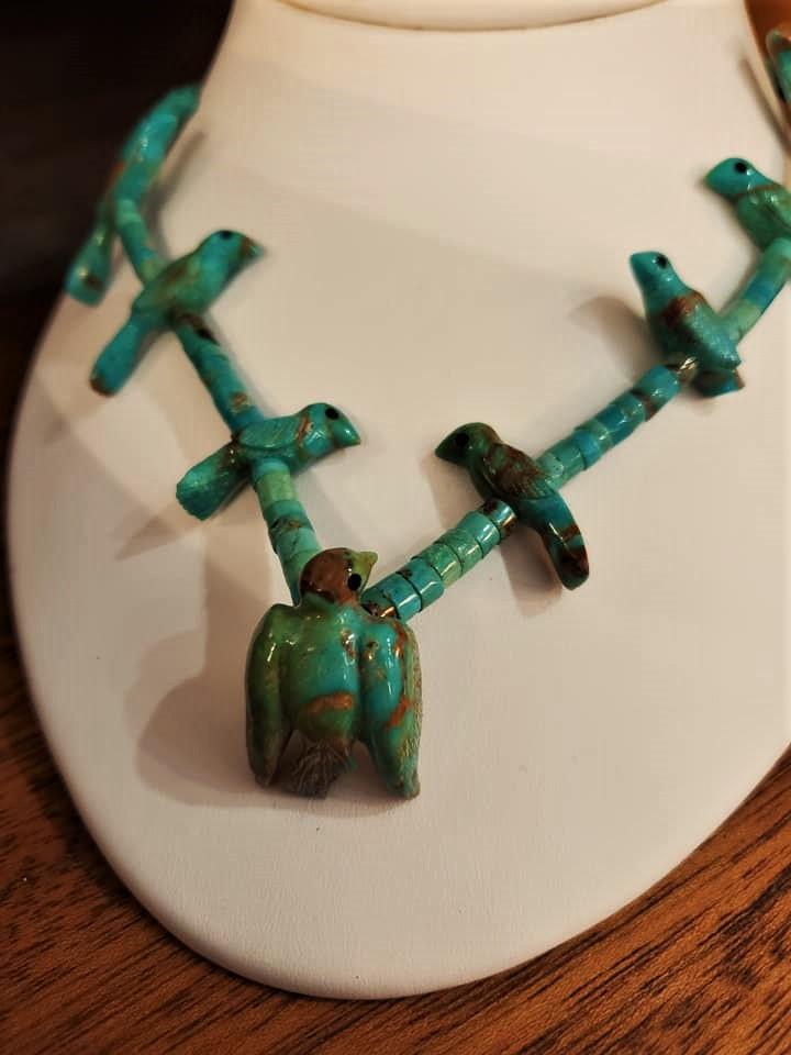 Turquoise Bird Fetish Necklace