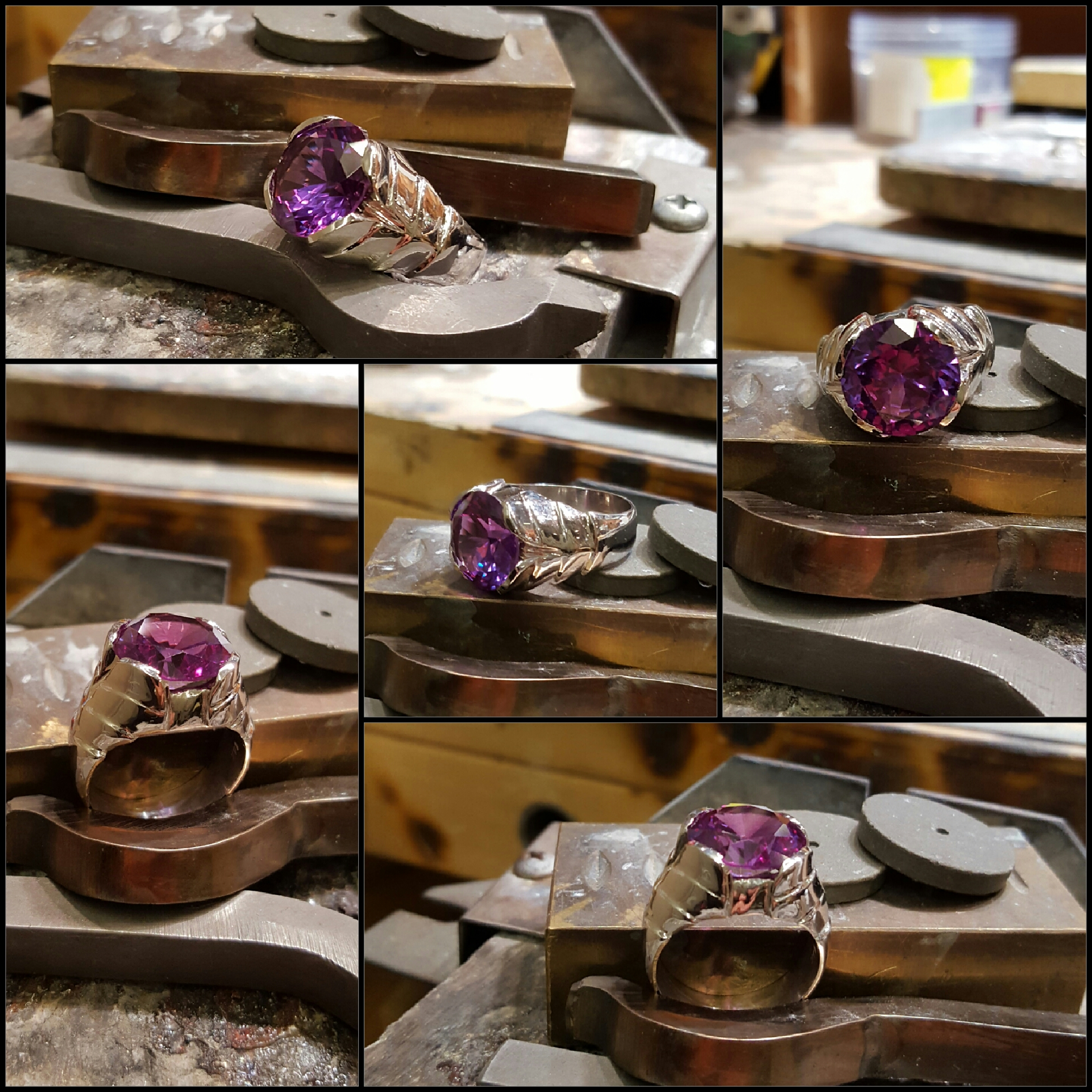 6.75ct Lab Purple Sapphire
