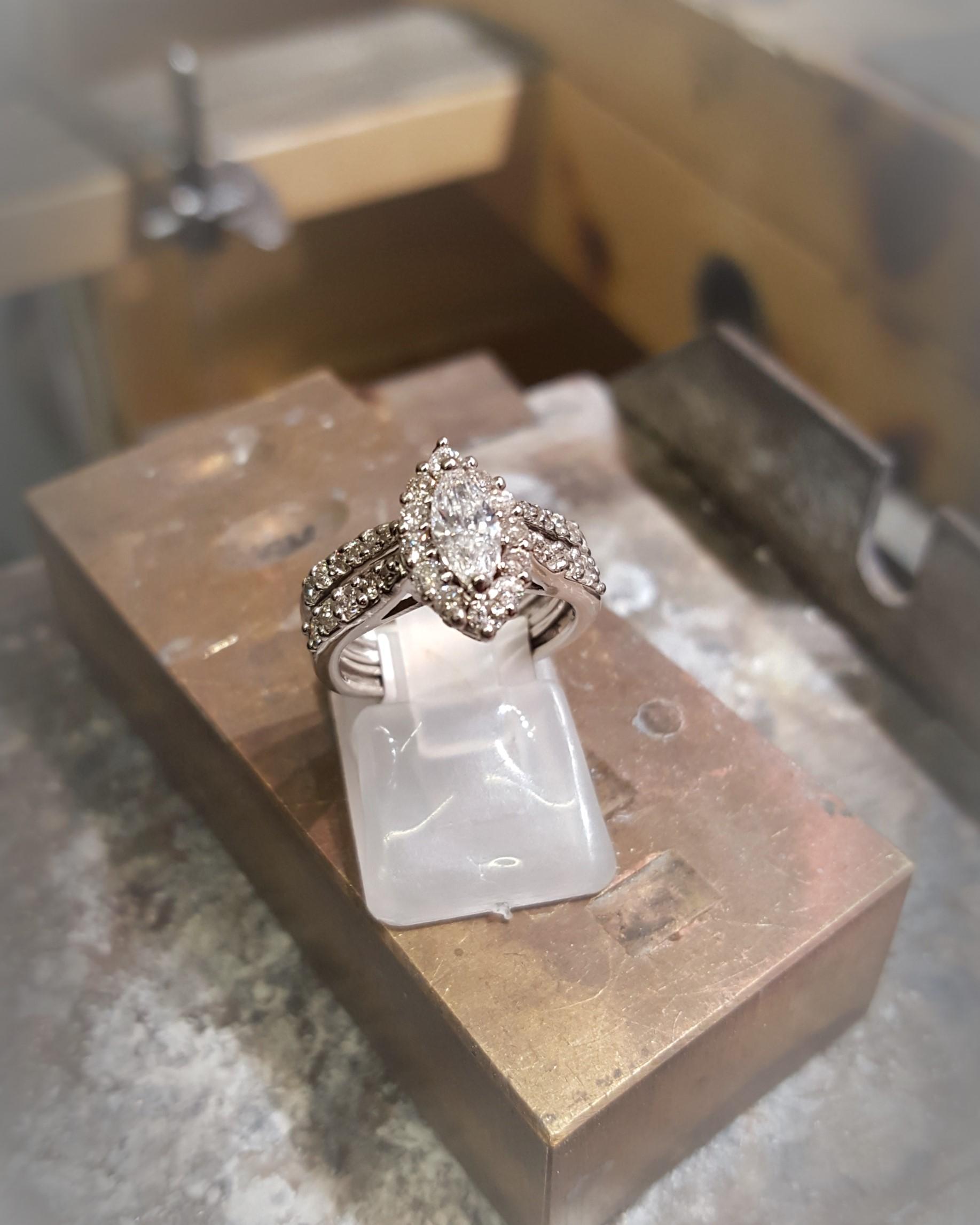 1ct Marquise with .50ctw Diamonds