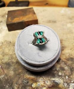 Emerald Onyx & Diamond