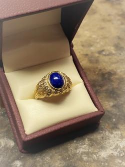 Lapis Lazuli .70ctw Diamonds