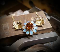 Custom Opal & Citrine Pendant