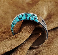 Navajo Turquoise Cuff Charlie Bowie