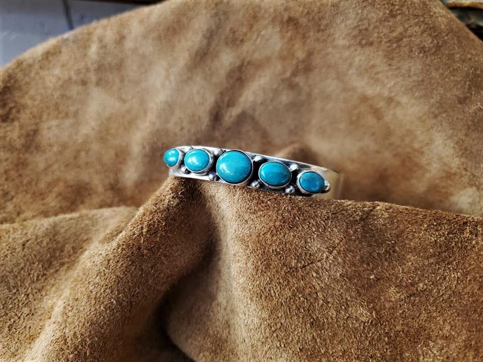 Navajo Vernon Clarissa Hale Turquoise Cuff Bracelet
