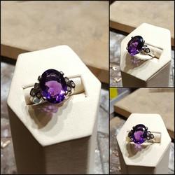 Amethyst with .25ctw Diamonds