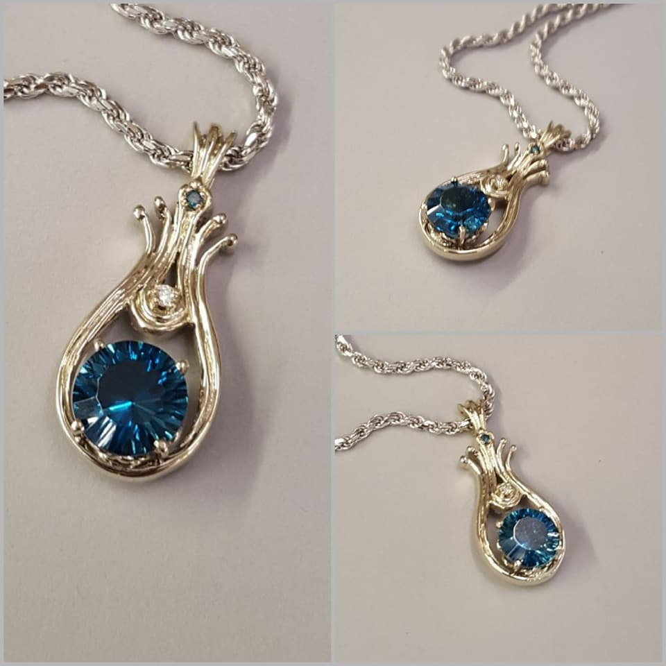 London Blue Topaz & Diamond