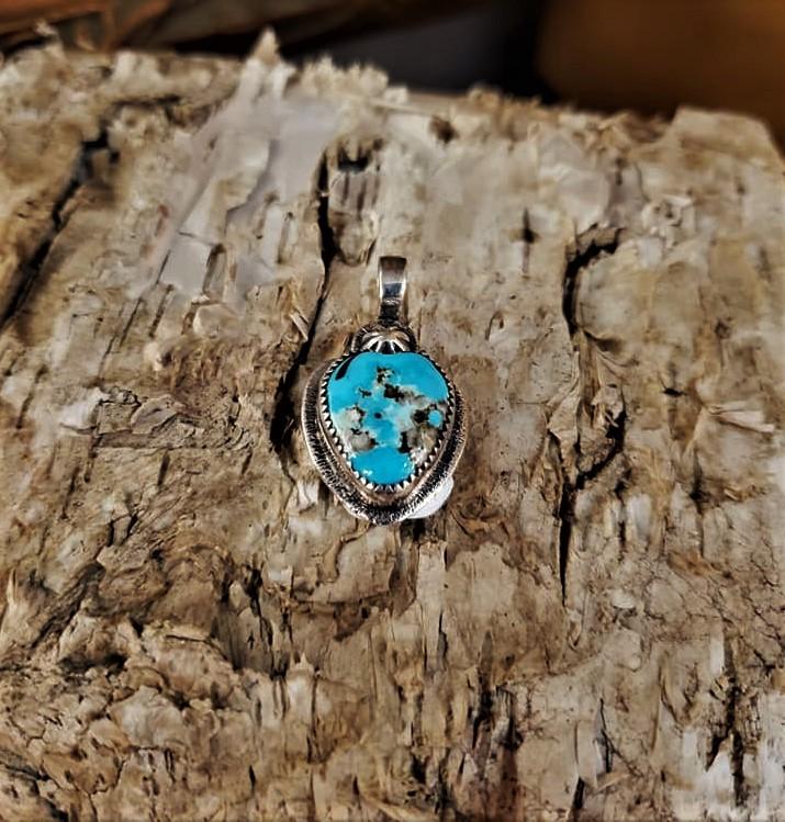 J Byrd Turquoise Heart Pendant