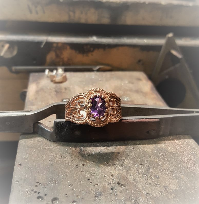Amethyst Rose Gold