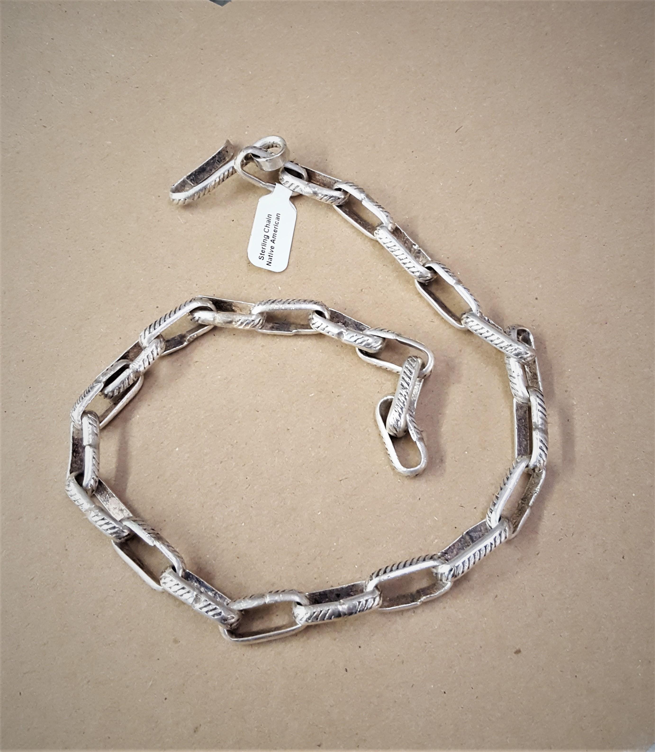 Navajo Handmade SS Chain
