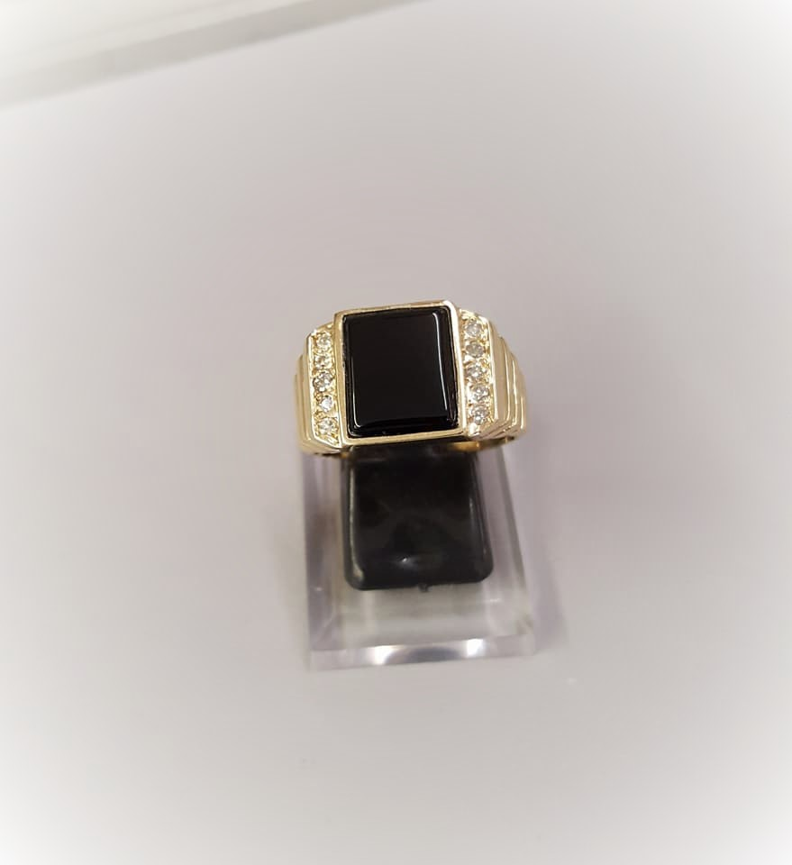 Onyx with Diamond Accents