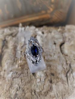 Ceylon Sapphire .25ctw Diamond