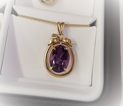 Faceted Oval Amethyst