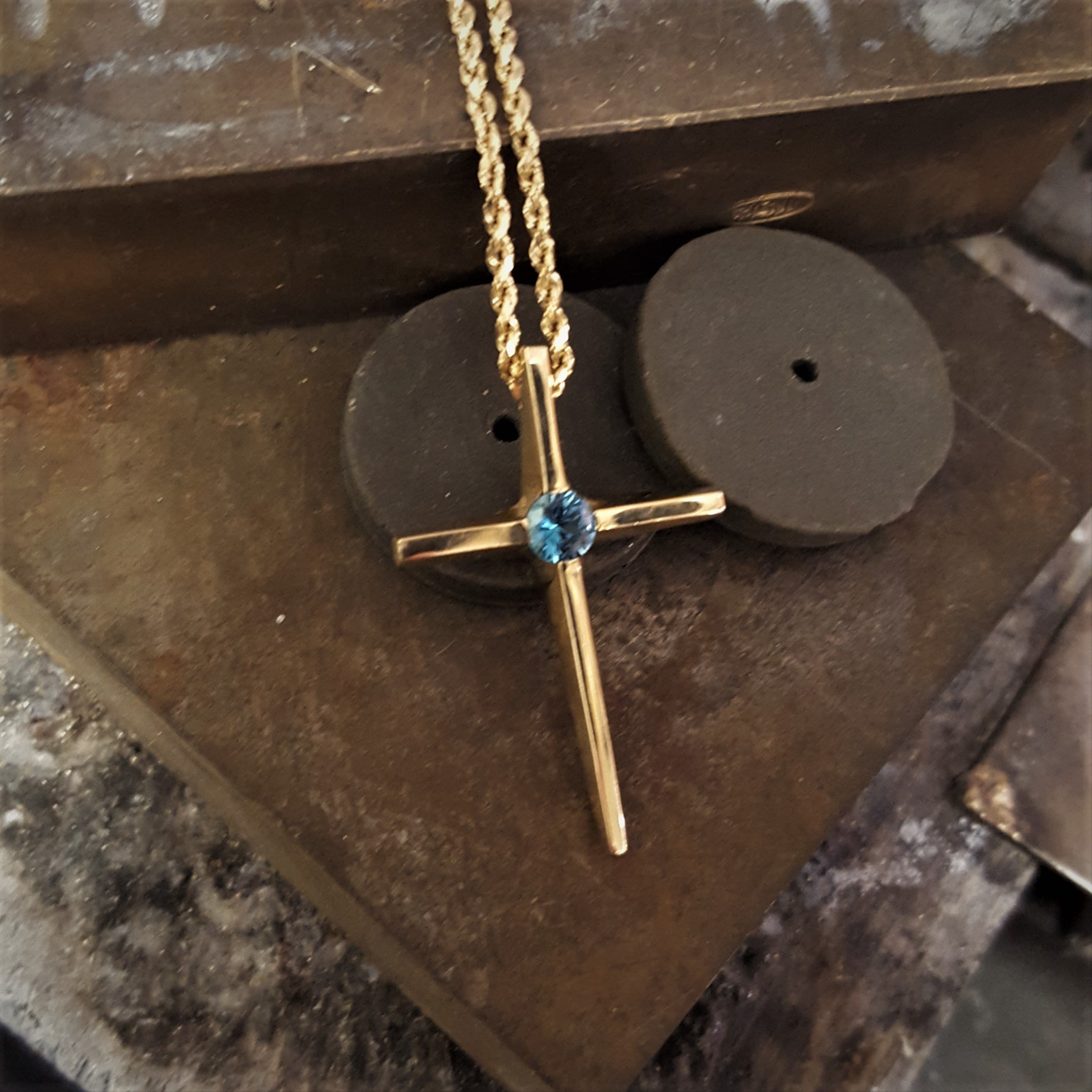 Zircon Cross Pendant