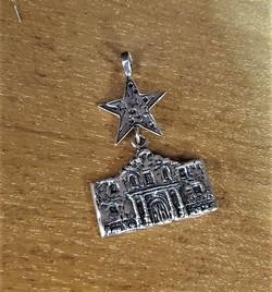 Sterling Silver Alamo Pendant