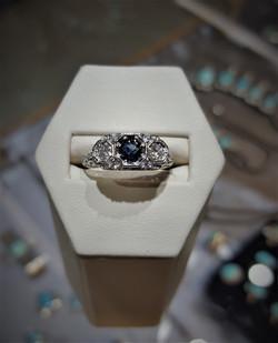 .30ct Sapphire & .20ctw Diamonds