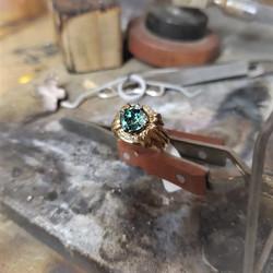 1.86ct Moissanite .12ctw Diamonds