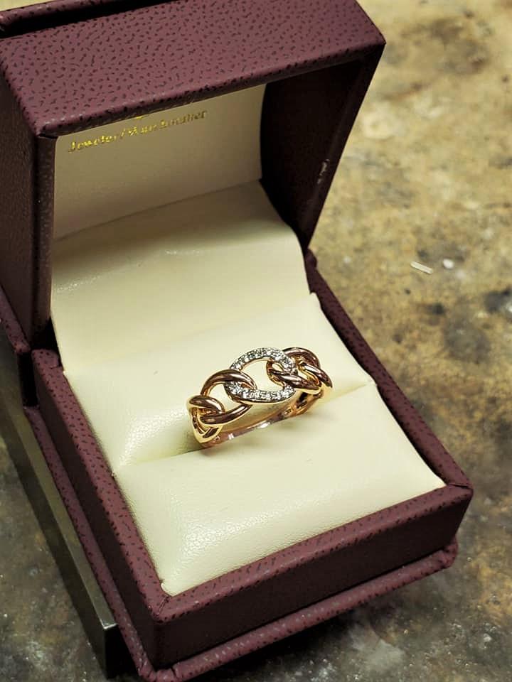 .25ctw Diamond Link 14kt Rose Gold