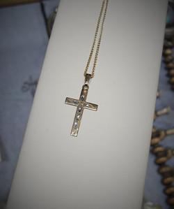 Carved Cross Pendant