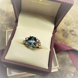 4.33ct Aquamarine .60ctw Diamonds