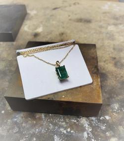 2.05ct Emerald Pendant