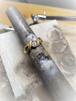 .50ctw Diamond 2-Stone Ring