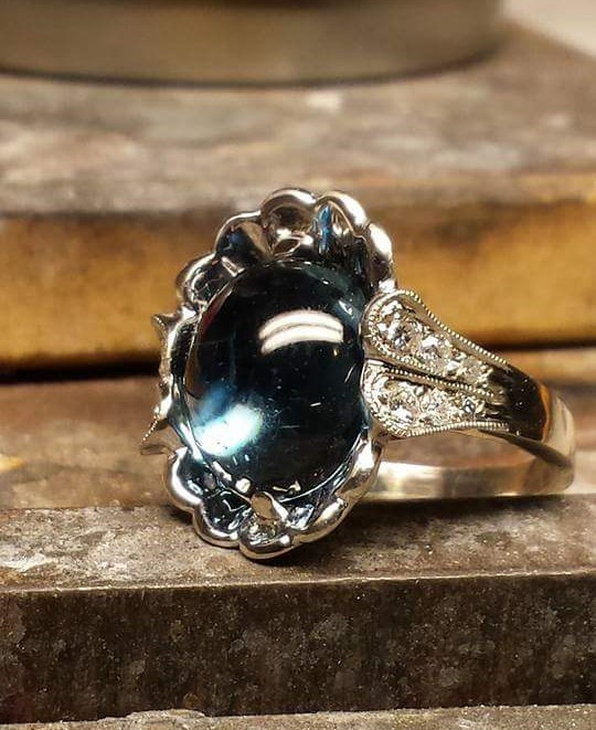 London Blue Topaz Cabochon