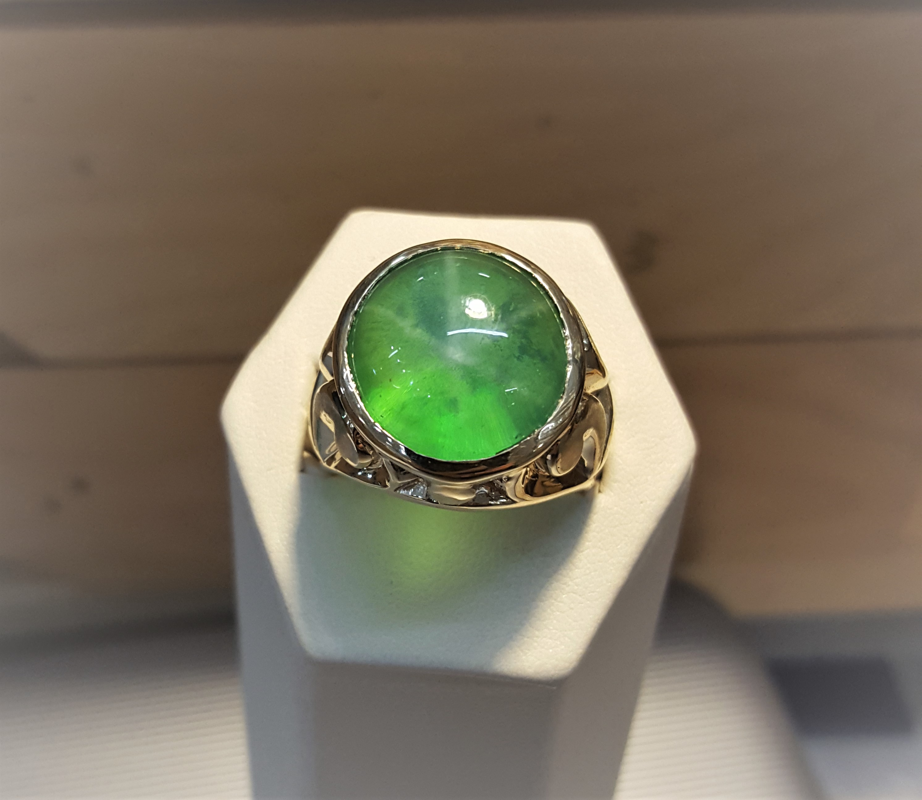 30.96ct Green Star Sapphire