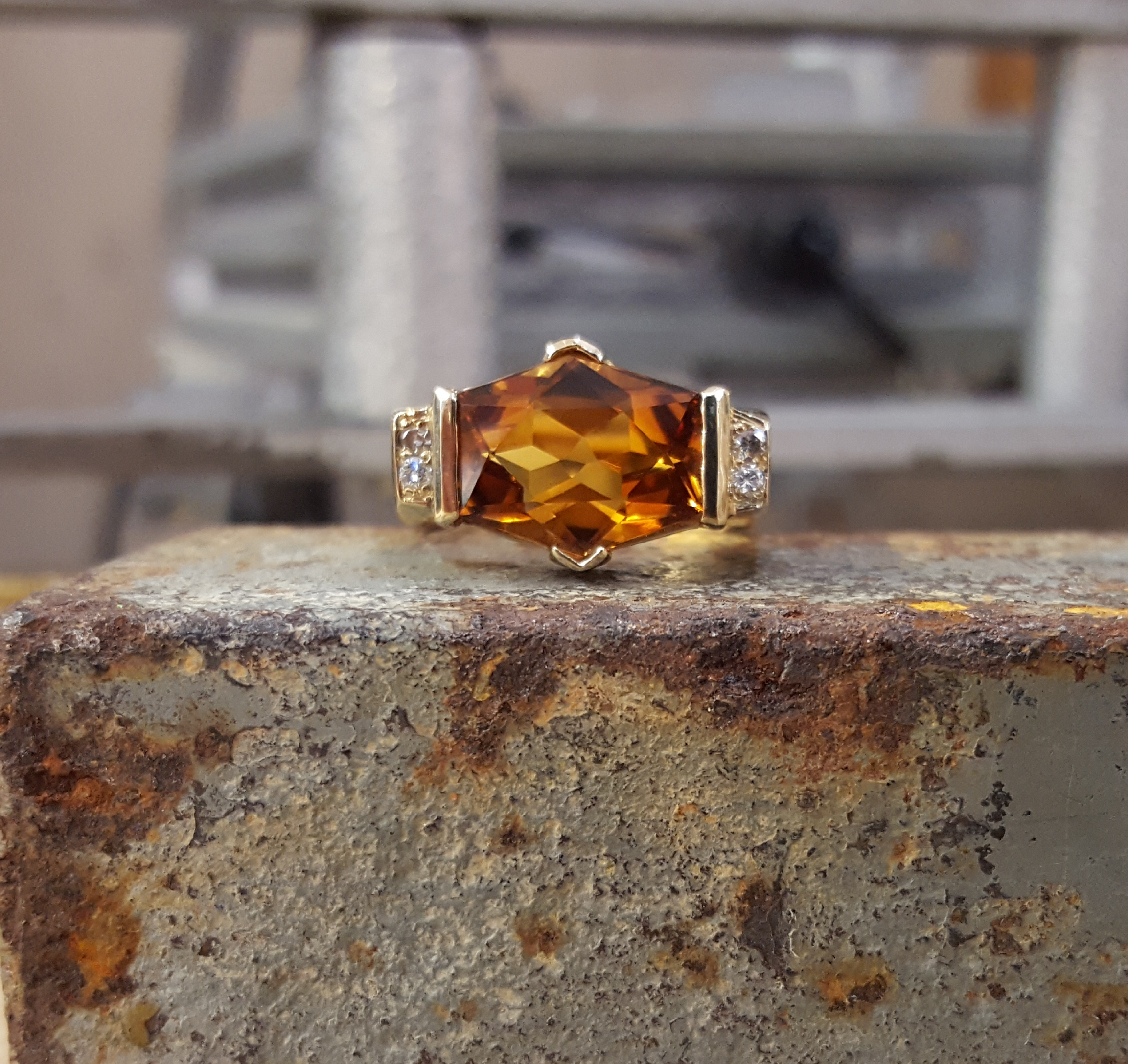 5.40ct Citrine & Diamonds
