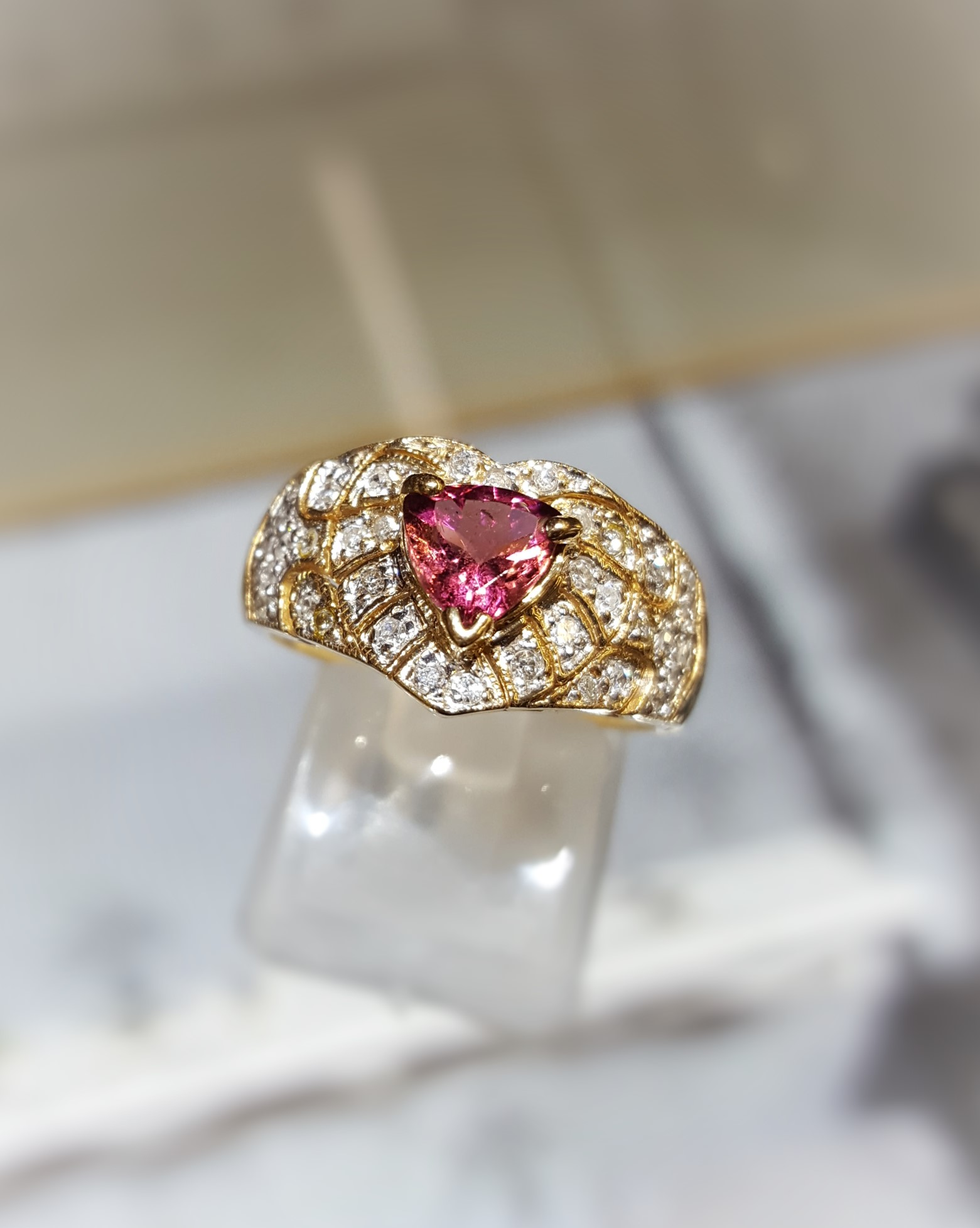 Tourmaline Trillion Diamonds