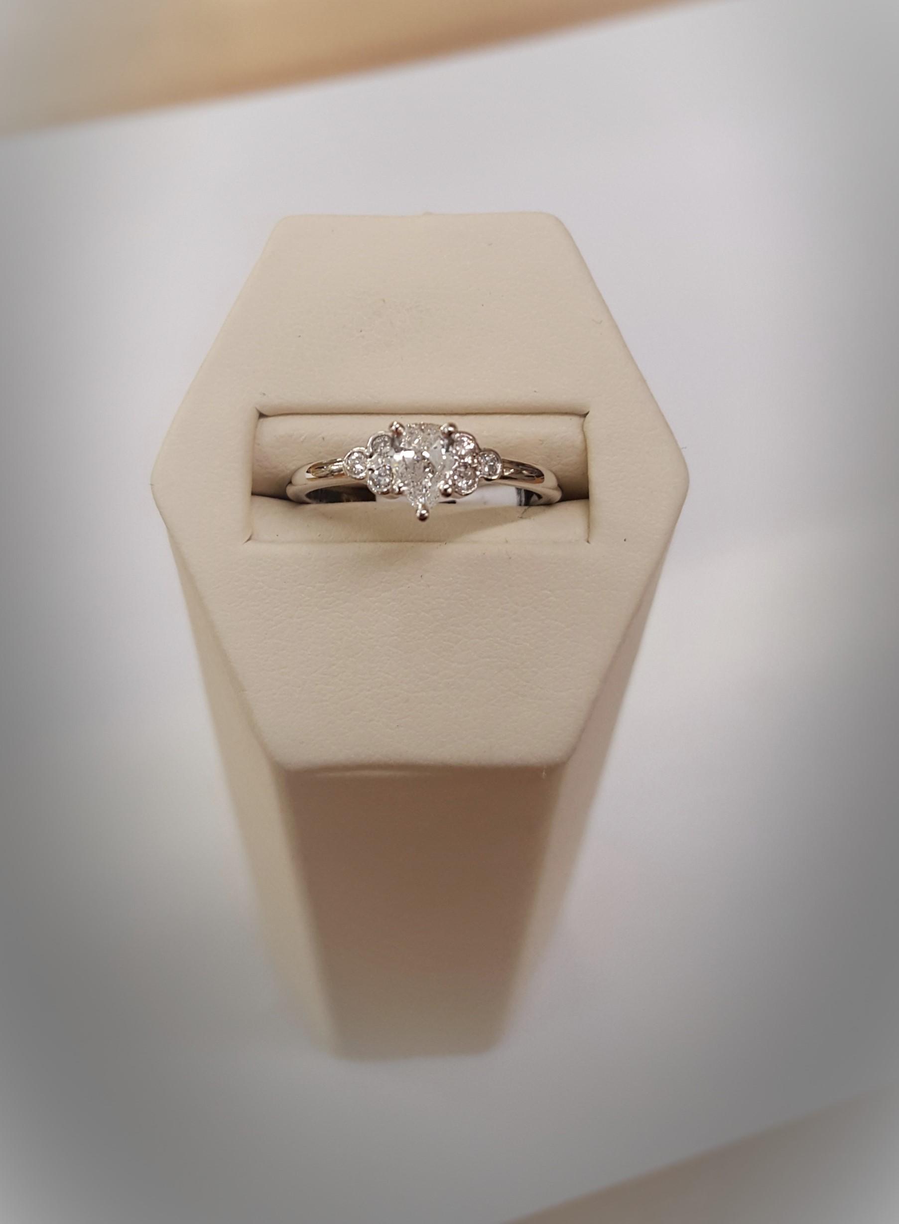 .40ct Pear Cut Diamond Solitaire