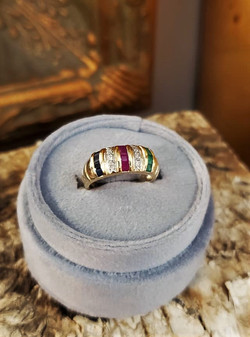 Sapphire Ruby Emerald Diamond Band