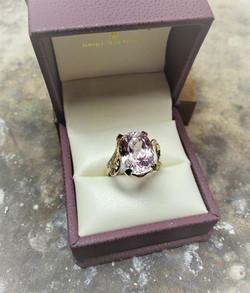 Morganite Diamond Accents