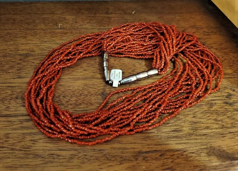 Vintage Coral Multi-Strand Necklace
