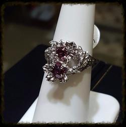 Tourmaline Floral Ring