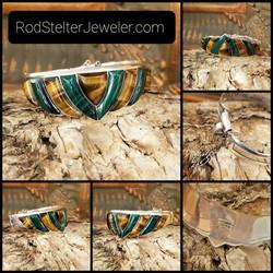Vintage Malachite Tiger Eye Bracelet