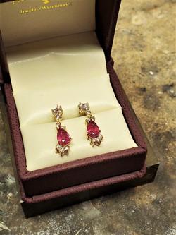 Rubelite Tourmaline .40ctw Diamonds