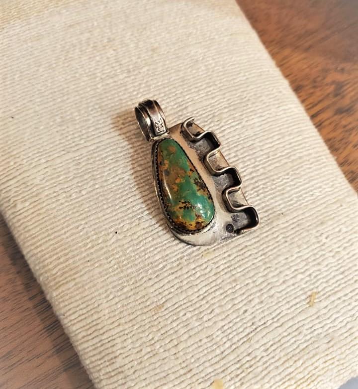 Navajo Jimmy Bob Turquoise Pendant