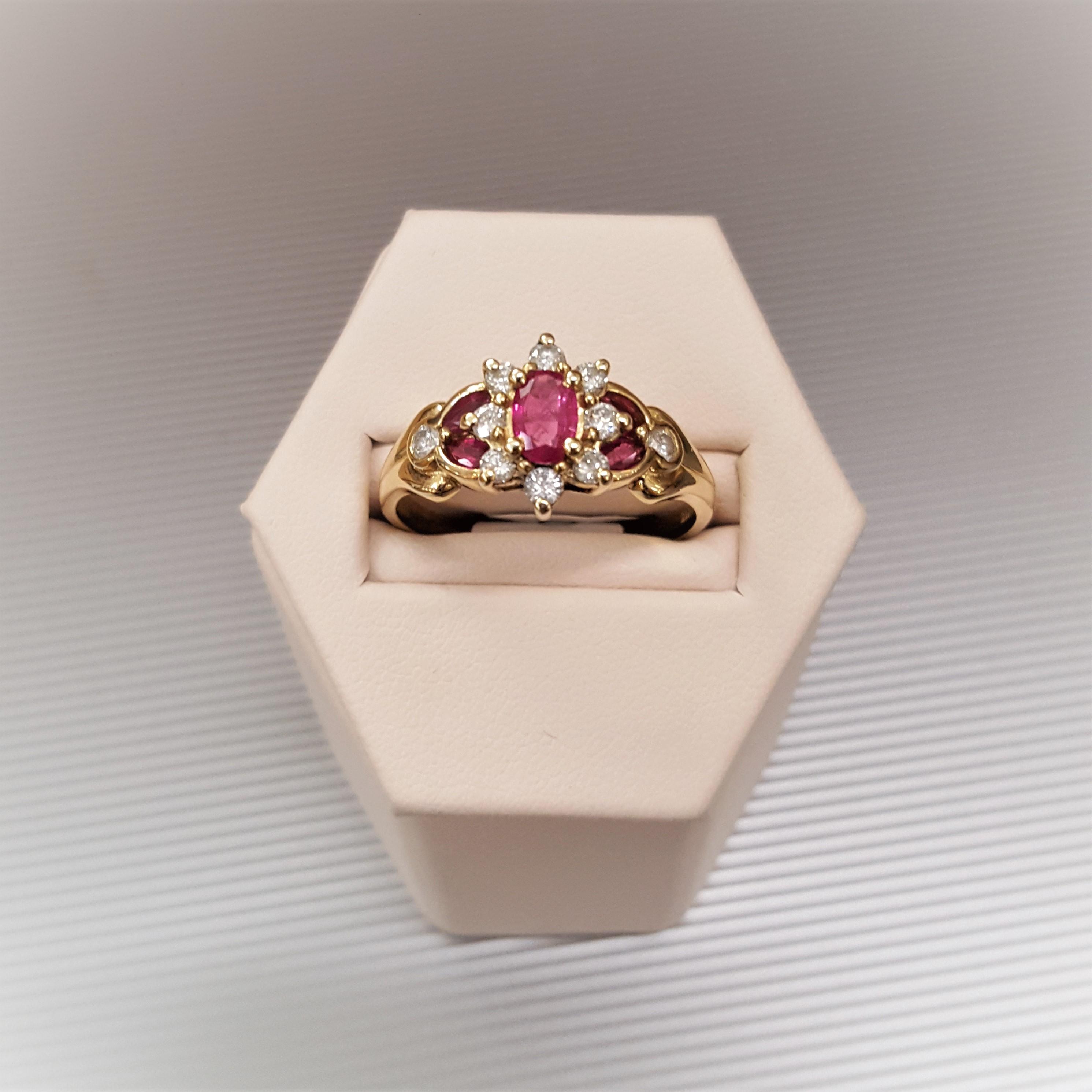 1.50ctw Rubies & .25ctw Diamonds