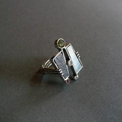 MOP Slate & Gemstone Ring