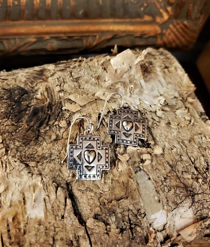 El Dom Cross Path Earrings