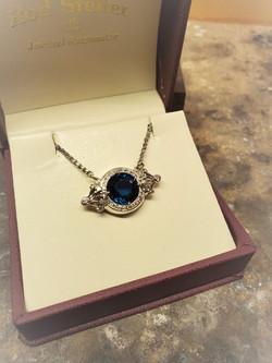 6.58ct London Blue Topaz Diamond Pendant
