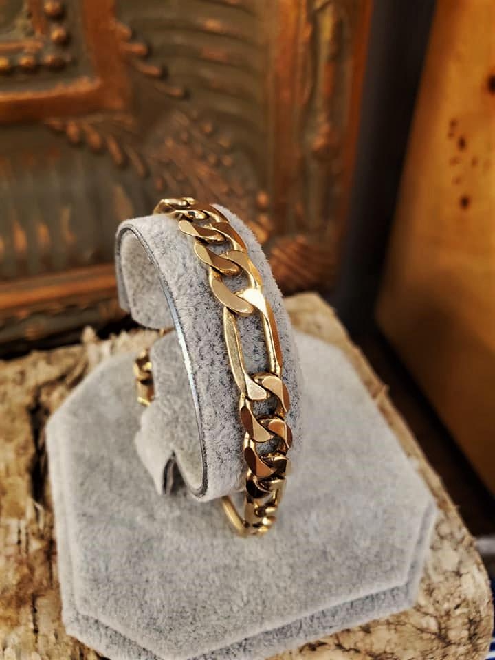 Gents Figaro 14kt Gold Bracelet