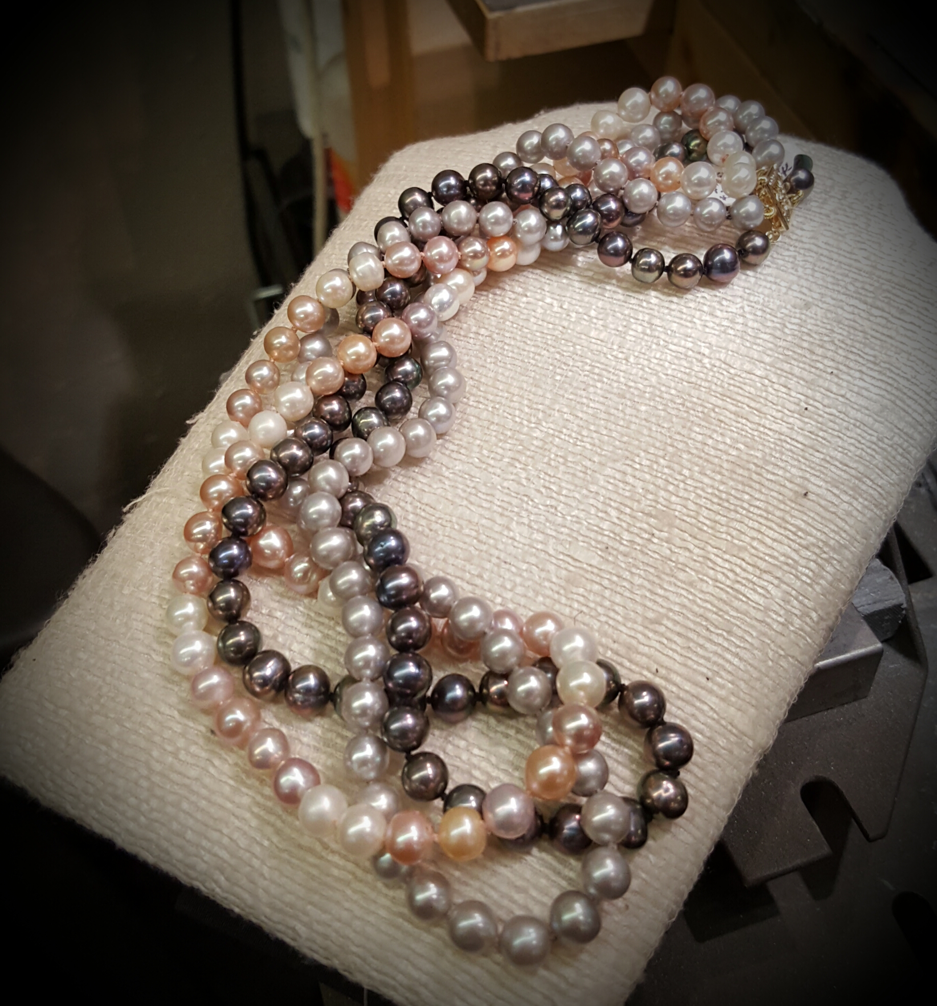 "18"" 3-Strand Cultured Pearls"